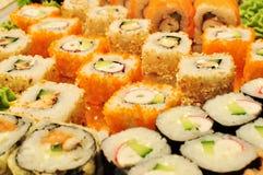 寿司种类 免版税库存照片
