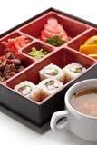 寿司箱子 图库摄影