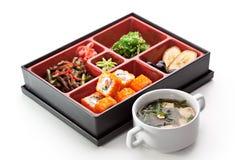 寿司箱子 免版税库存图片