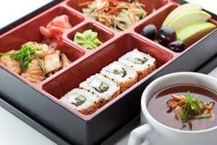 寿司箱子 库存照片