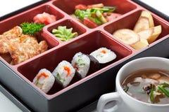 寿司箱子 免版税图库摄影
