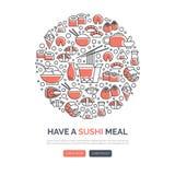 寿司网模板 图库摄影