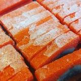 寿司罕见的雅罗鱼生鱼片 免版税库存图片