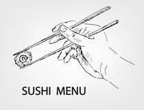 寿司菜单 免版税库存照片