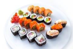 寿司设置了白色 库存照片