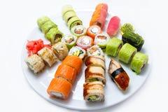 寿司设置了白色 免版税库存图片