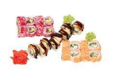 寿司设置了3条龙 图库摄影