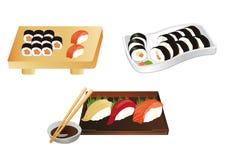 寿司集合例证 免版税库存图片