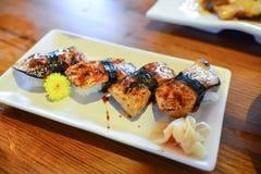 寿司饭烤鳗鱼 库存照片