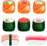 寿司鲜美日本食物, 免版税库存照片