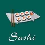 寿司,传染媒介例证 免版税库存图片