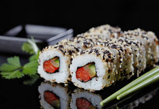 寿司素食主义者 图库摄影