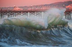 封印海滩岸断裂天才 库存照片