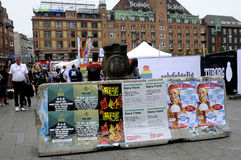 封锁在哥本哈根平方的香港大会堂 哥本哈根自豪感 库存照片