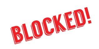 封锁的不加考虑表赞同的人 库存例证