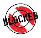 封锁的不加考虑表赞同的人 向量例证