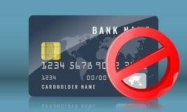 封锁的信用或万一银行卡概念例证 r 向量例证