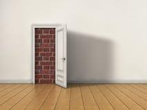 封锁的门 免版税图库摄影