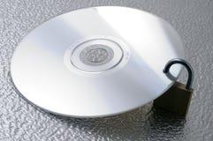 封锁的cd 库存照片