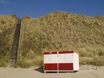 封闭式机房的海滩 免版税库存照片