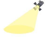 射出动画片的聚光灯删去阶段 向量例证