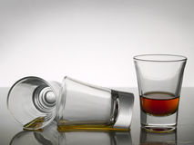 射击三威士忌酒 免版税库存照片