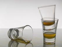 射击三威士忌酒 库存照片
