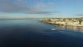 射击太平洋和圣地亚哥沿海水域从直升机 影视素材