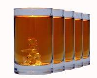 射击威士忌酒 库存图片