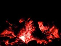 射击小的篝火 库存图片