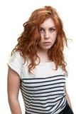 射击工作室妇女年轻人 免版税库存照片