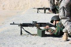 射击战士 库存照片