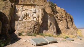 射击波斯国王的历史的大墓地 影视素材
