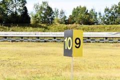射击的普莱西德湖美国奥林匹克两项竞赛 免版税库存图片