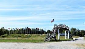 射击的普莱西德湖美国奥林匹克两项竞赛 免版税库存照片