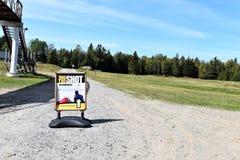 射击的标志的普莱西德湖美国奥林匹克两项竞赛 库存图片