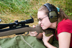 射击者妇女 免版税库存图片
