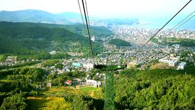射击sapporro城市从山moiwa的顶端,北海道,日本 股票视频