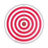 射箭目标红色白色 免版税库存照片