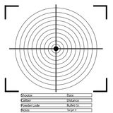射箭目标 向量 免版税库存图片