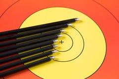 射箭箭头技巧 免版税库存照片