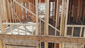 射线建筑房子的新建工程构筑了地面  股票视频
