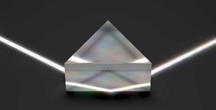 射线轻光学棱镜反射 向量例证