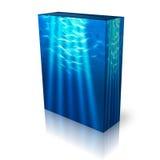 射线配件箱水下光的模板 免版税图库摄影