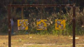 射击练习打靶板料 免版税图库摄影