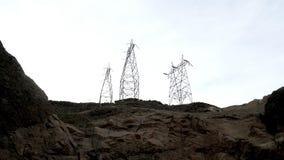 射击力量塔在胡佛水坝附近 股票视频