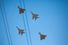 射击北约波儿地克的空军宪兵飞机 免版税图库摄影