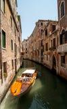 威尼斯,意大利运河  库存照片