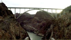 射击在黑峡谷的一座桥梁在胡佛水坝附近 影视素材