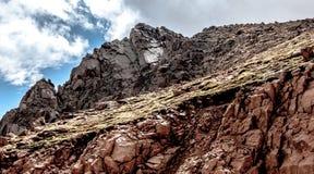 在派克的峰顶的岩石 免版税库存照片